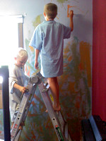 painting Cal's room 7-19-2011